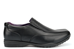 US Brass Boys Twin Gusset Slip On Low Profile School Shoes