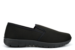 Alive Womens Slip On Comfort Casual Trainers With Memory Foam Insole Black