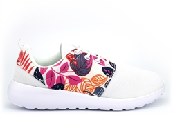 Select Sports Girls/Womens Lightweight Lace Trainers With Breathable Floral Print Upper White