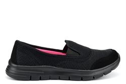 Dek Womens Super Light Weight Comfort Leisure Slip On Shoes Black