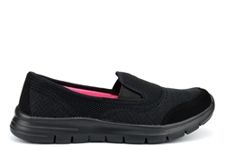 Dek Womens Super Light Weight Comfort Leisure Slip On Shoes Black