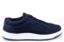 Dek Mens Canvas Casual Shoes With Textile Upper Navy