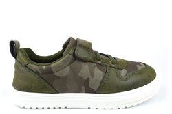 Steps Boys Camouflage Touch Fastening Trainers With Elasticated Lace Khaki