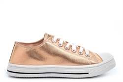 Urban Jacks Girls Low Cut Shiny Pumps Pink Metallic (Youth)
