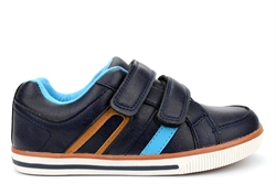 Zenden Boys Trainers With Twin Touch Fastening Straps Navy