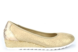Cipriata Womens Wedge Heel Casual Shoes With Microfibre Lining Light Gold