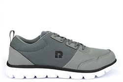 Dek Mens Lightweight Memory Foam Lace Up Trainers Grey