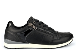 Cipriata Womens Lace And Side Zip Casual Trainers Black