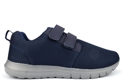 Ascot Mens Ultra Lightweight Memory Foam Touch Fastening Trainers Navy