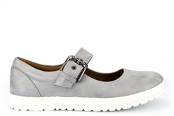 Cipriata Womens FLORENCE Buckle Bar Casual Shoes With Super Comfort Lining And Insole Silver