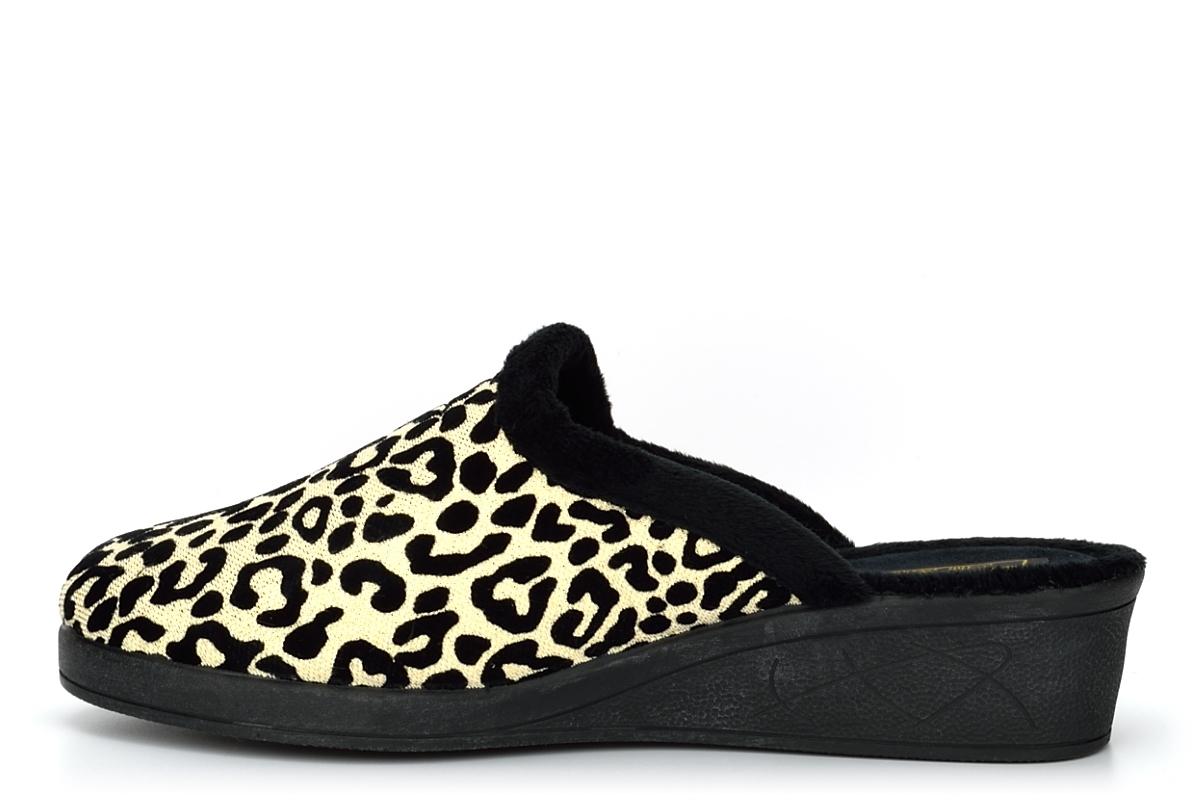 Ladies Slippers Womens Mule Slippers Wedge Heel Slippers Heels Ocelot Leopard