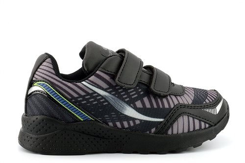 Dek Boys/Girls ATLANTIC Super Lightweight Trainers With Two Touch Fastening Straps Black/Lilac