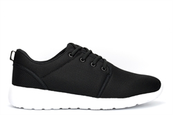 Dek Mens JUPITER Memory Foam Superlight Lace Trainers Black