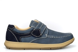 Scimitar Mens Touch Fastening Casual Shoes With Padded Collar And Tongue Navy Blue