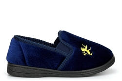 Sleepers Boys Kyle Twin Gusset Slip On Slippers With Rubber Sole Navy Blue