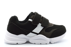Ascot Boys Jacob Touch Fastening Lightweight Trainers Black/White