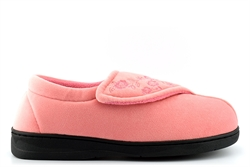 Jo & Joe Womens Eva Wide Fit Slippers With Soft Insole And Touch Fastening Coral (E Fitting)