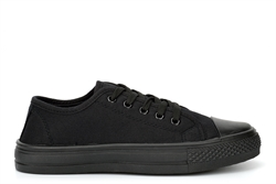 Urban Jacks Boys/Girls Classic Canvas Shoes/Pumps All Black