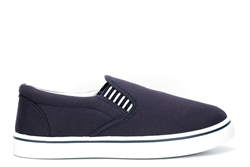 Dek Boys Canvas Yachting Shoes With Padded Collar Navy Blue