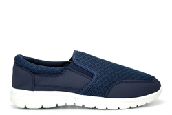 Urban Jacks Boys Slip On Casual Trainers/Pumps Navy/White