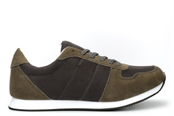 Bracos Mens Casual Lace Up Classic Lightweight Trainers Khaki
