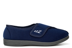 Zedzzz Mens Connor Touch Fastening Slippers Navy Blue