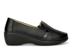 Moenia Womens Casual Shoes With Wedge Heels Black