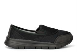 Urban Jacks Womens Super Lightweight Memory Foam Comfort Shoes Black