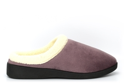 Sleep Boutique Womens Mule Slippers With Soft Fleece Lined Insole Mink