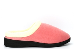 Sleep Boutique Womens Mule Slippers With Soft Fleece Lined Insole Rose Pink