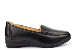 Dr Keller Womens Sally Twin Gusset Casual Shoes With Padded Comfort Insole Black