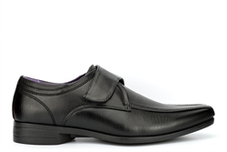 Roberto Giovanni Mens Tramline Touch Fasten Formal Shoes Black