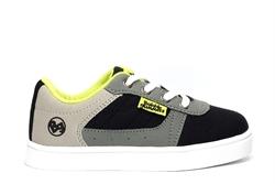 Bubble Gummers Boys Low Top Canvas Shoes Black/Grey