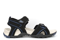Mens Addian Lightweight Touch Fastening Sandals Black