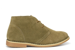 Renegade Sole Boys Drayton Real Suede Desert Boots Taupe