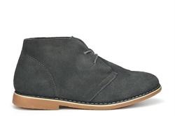Renegade Sole Boys Drayton Real Suede Desert Boots Dark Grey
