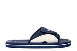 PDQ Womens/Mens Lightweight Touch Fastening Beach Mule Sandals Navy Blue/Grey