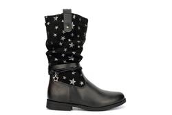 Blue Queen Girls Lightweight Star Mid Calf Boots Black