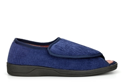 Four Seasons Mens George Crossover Wide Fit Slippers With Memory Foam Insole Navy