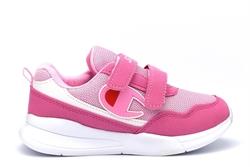 Girls Lightweight Touch Fastening Trainers Pink/White