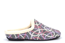 Sleepers Womens Katie Knitted Mule Slippers With Ergonomic Padded Insole Grey