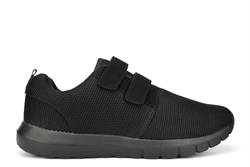Ascot Mens Ultra Lightweight Memory Foam Touch Fastening Trainers Black