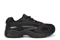 Dek Boys Venus Lace Up Trainers Black/Charcoal Grey