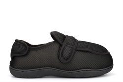 Zedzzz Mens Josh Memory Foam Touch Fastening Extra Wide Fit Slippers With Dual Fitting (E/5E Width)