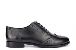 Cipriata Womens Leather Brogue Oxford Shoes With Comfort Insole Black