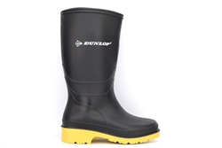 Dunlop Girls/Boys Waterproof Wellington Boots Black