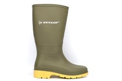 Dunlop Girls/Boys Waterproof Wellington Boots Green