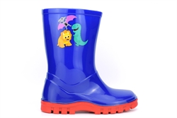 StormWells Boys Dinosaur Waterproof Wellington Boots Navy