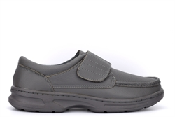 Dr Keller Mens Texas Touch Fastening Casual Leather Shoes Grey