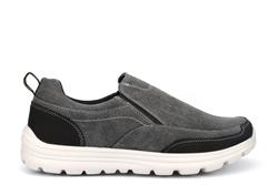 Dek Mens Superlight Memory Foam Denim Canvas Shoes Black